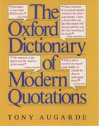 The Oxford Dictionary of Modern Quotations (USED)